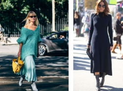 Ako nosiť úpletové šaty
